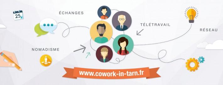 COWORK'IN TARN, premier réseau tarnais du travail collaboratif et du télétravail